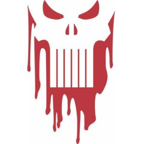 Sticker - Marvel - Punisher - Drippy Skull New Rub-Ons s-3351-r