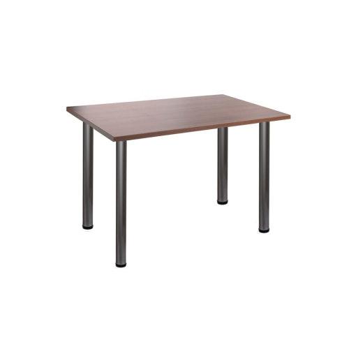 Computer Desk Office Dining Table Workstation Aluminium Legs Wallnut Top 120x80cm