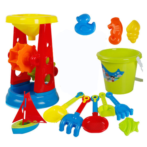 13 Piece Beach sand Toy Set, Bucket, Shovels, Rakes,Perfect for Holding Childrens' Toys#B