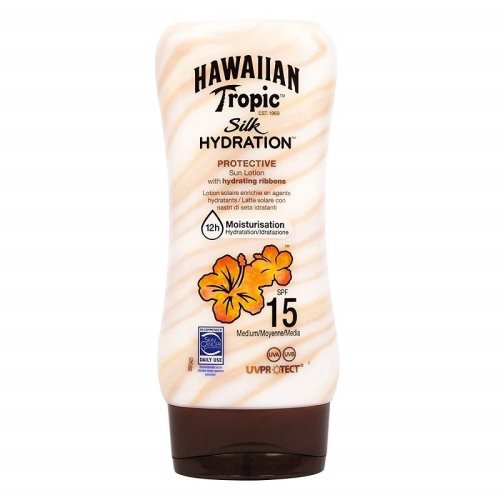 Hawaiian Tropic Silk Hydration SPF 15 Protective Sun Lotion - 180ml