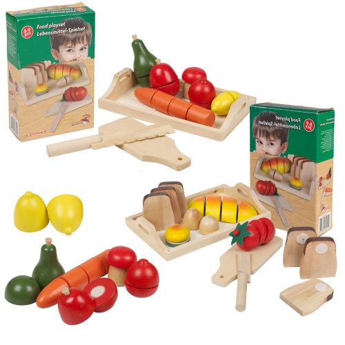 8-9 PCS Kids Wooden Food Fruit & Veg Bread Set Toy