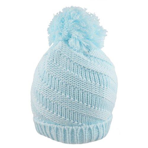 f30b8a25f89 Baby Boys Pom Pom Bobble Hat Winter Spiral on OnBuy