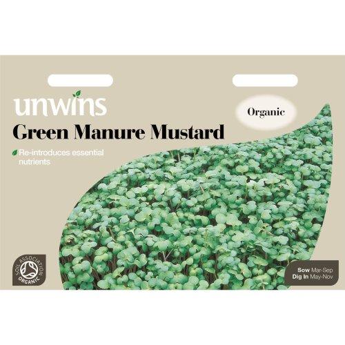 Unwins Pictorial Packet - Green Manure Mustard - 12000 Seeds