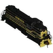 Bachmann Industries Alco RS-3 Locomotive D and RGW 5200 - EARLY (Yellow and Black) N Scale - DCC on Board