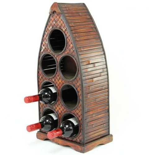 Arched Wooden Wine Rack