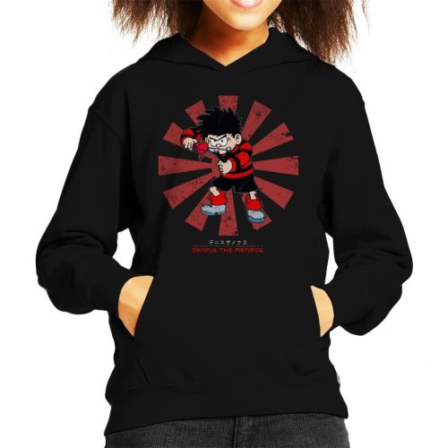Dennis The Menace Retro Japanese Kid's Hooded Sweatshirt