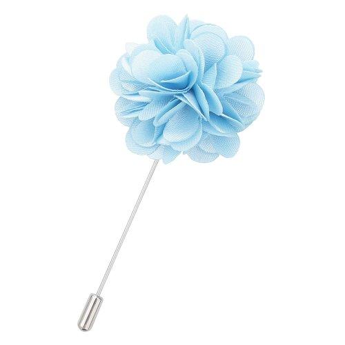 Baby Blue Plain Satin Lapel Pin