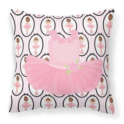 Carolines Treasures BB5153PW1414 Ballerina Pink Tutu Fabric Decorative Pillow - 14 x 3 x 14 in.