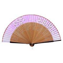 Elegant Hand Fan Portable Folding Fan Carved Handheld Fan Chinese Fans #14