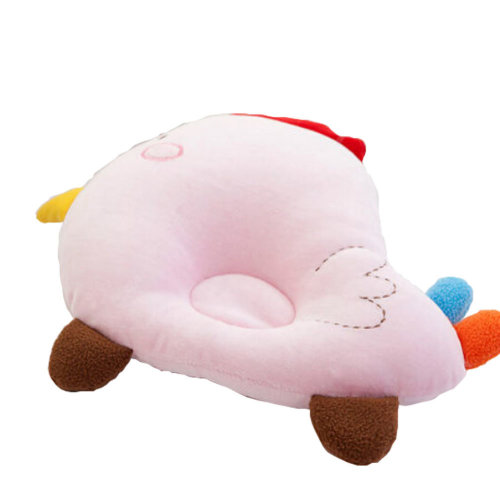 Cute and Soft Anti-roll Pillow Prevent Flat Head For 0-1 Years Pink