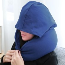 U-Shape Travel Pillow with Hat for Airplane Travel