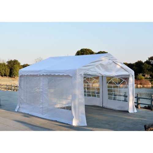Outsunny Waterproof Garden Party Gazebo | White Marquee 4 x 4m
