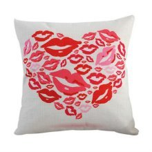 Valentine's Day Lovers Pillow Throw Cushion Sofa Home Car Decor Lip Pattern HQ13