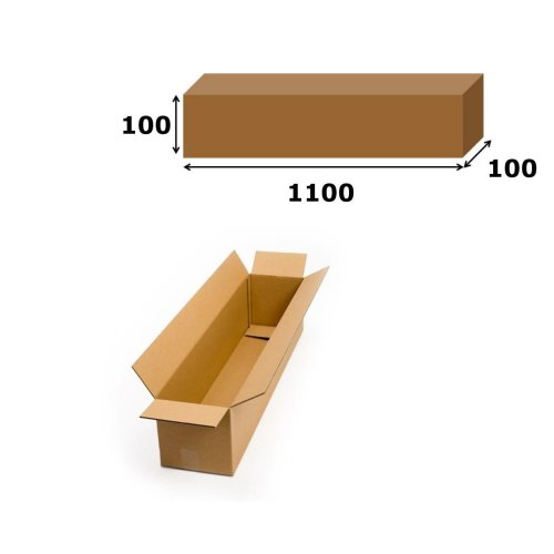 20x Postal Cardboard Box Long Mailing Shipping Carton 1100x100x100mm Brown