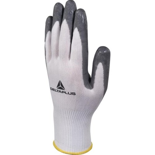 Delta Plus VV722 High-Tech Soft & Foam Nitrile Safety Gloves White/Grey (Various Sizes)