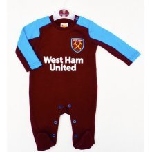 West Ham United Baby Sleepsuit - 2017/18 Season (9-12 Months) - 2018 Babies -  west ham united 2018 babies pram sleep suit baby grow play bodysuit