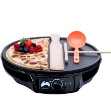 Ovation 1000W Crêpe and Pancake Maker with Batter Spreader, Ladle & Spatula