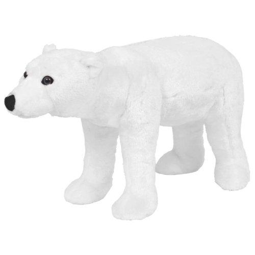 vidaXL Standing Plush Toy Polar Bear White XXL Kids Riding Stuffed Animal