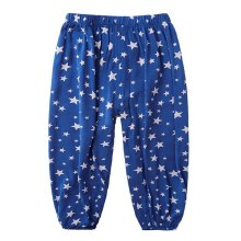 Comfortable Soft Children's Trousers, Dark Blue And Five-pointed Star