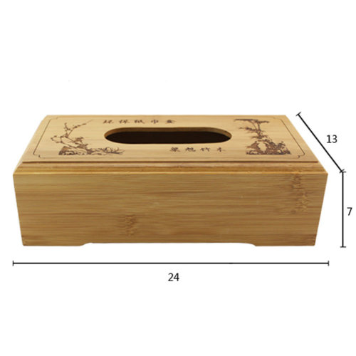 Bamboo Toilet Paper Tissue Paper Holder/Carve Tissue Box (24*13*7cm)