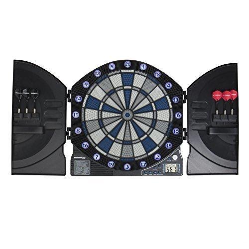 Bullshooter by Arachnid Illuminator 3 0 Light Up Dartboard Cabinet Set