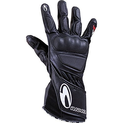 Richa WSS Black Leather Sports Summer Racing Motorcycle Gloves