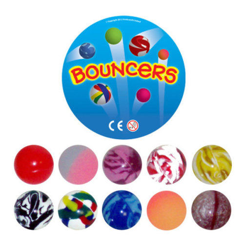 Henbrandt Bouncing Balls - Assorted -  balls bouncy jet party bag loot childrens filler toy toys fillers pinata birthday kids 27mm