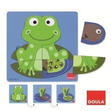Goula 3 Levels Frog Wooden Puzzle (7 Pieces)