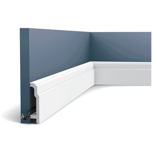 Orac Decor SX155 LUXXUS Skirting Panel Moulding Cable protection | 2 m