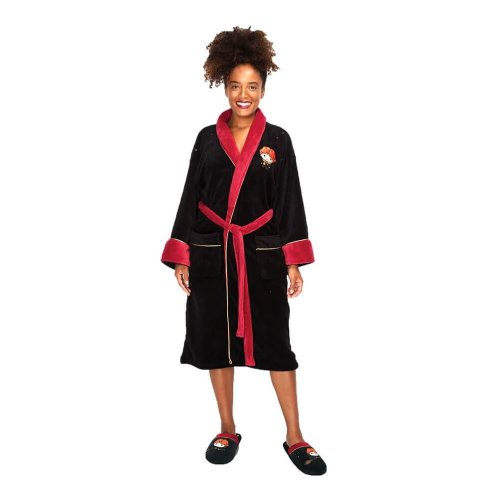 One Size Clothing, Shoes & Accessories Official Harry Potter Deathly Hallows Adult Fleece Dressing Gown