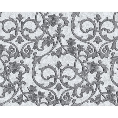 EDEM 9016-30 Baroque wallcovering metallic highlights white cream 10.65 sqm