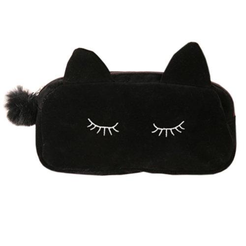 Korean Style Cosmetic Bag - Black Cat