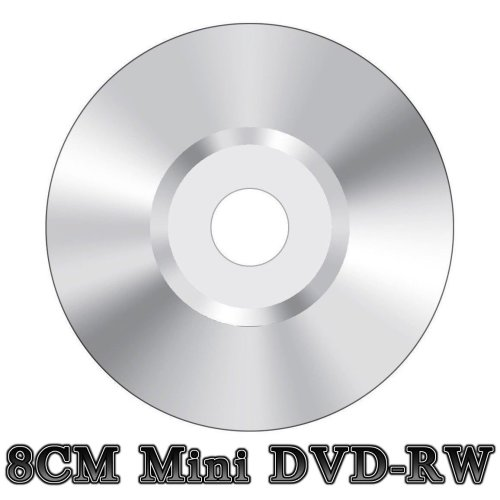 Blank Mini 8CM DVD-RW Re-Writable Camcorder Disc Silver (4x 30min 1.4GB)