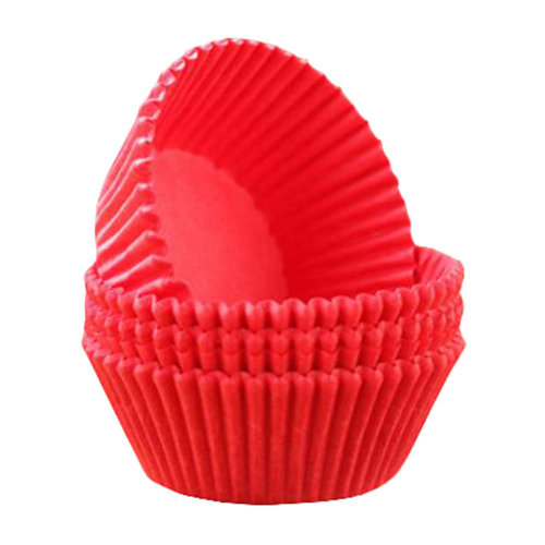Baking Cups for Cupcakes Best Quality Cupcake Wrapper Maffin Cup 100 PCS-Red