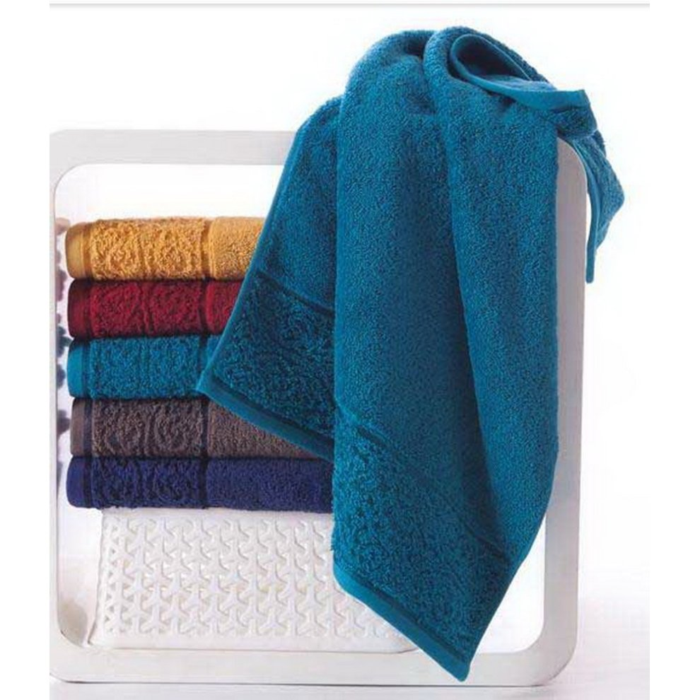 Soft Absorbent Cotton Towels Thicken European Solid Color Bath Towel