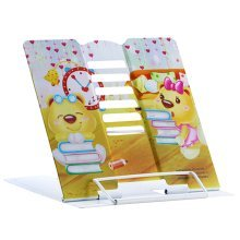 Book Stand Book Holder Adjustable Foldable Book Stand Cute [O]