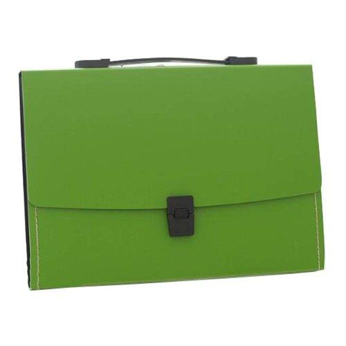 13 Pockets Portable File Holder A4 Document Organizer Information Bag-Green 2