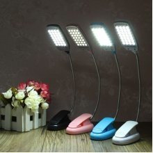 LED Flexible USB Reading Lamp Clip-on Desk Table Bed Laptop Light Home Office School Lamp