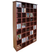 PIGEON HOLE - 585 CD Media Cubby Storage Shelves - Mahogany