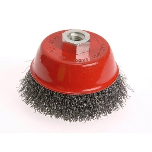 Faithfull FAIWBC100S Wire Cup Brush 100mm x M14 x 2 Stainless Steel 0.30mm