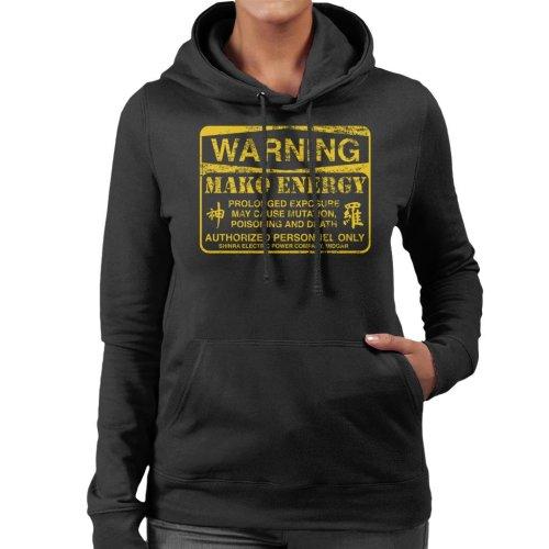 Warning Mako Energy Final Fantasy VII Women's Hooded Sweatshirt