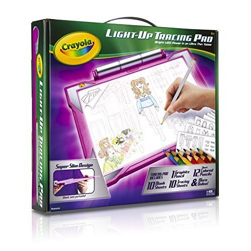 Crayola Light up Tracing Pad Pink Coloring Board for Kids Gift Toys for Girls Ages 6 7 8 9 10