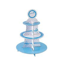 Dots Blue Cake Stand 3 Tiers Round
