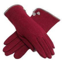 Solid Cotton Warm Crocheted Full Finger Gloves