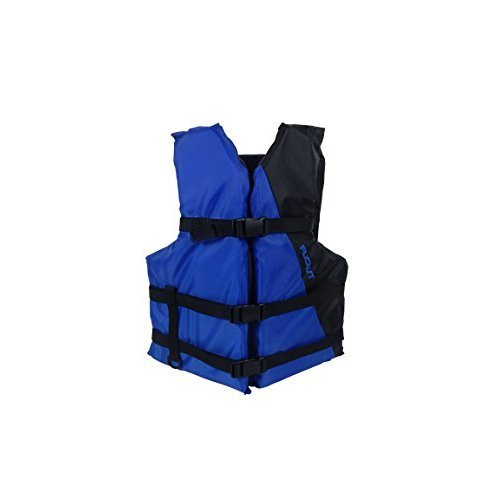 Flowt Multi Purpose 40201 2 OS Multi Purpose Life Vest Type III PFD Blue Adult Oversize Fits chest sizes 52 62