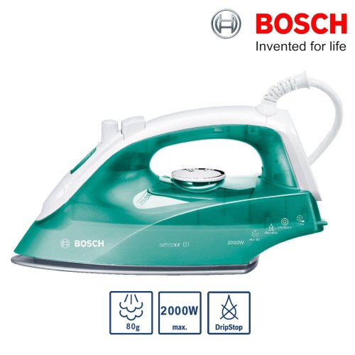 Bosch TDA2623GB Steam Iron 2000W 80g Steam Shot Drip Stop Palladium Glissee