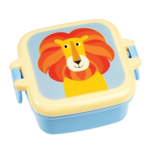 Mini Plastic Snack Pot Boxe School Picnic Pack Food Storage Animal Lion