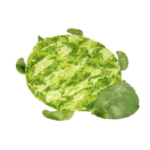 40 x 40 in. Weighted Fleece Turtle Blanket, Green