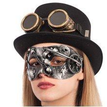 Carnival Toys 1690–hard Plastic Silver Steampunk Mask