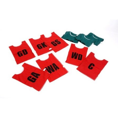 Childrens Red Netball Bibs Pack of 7